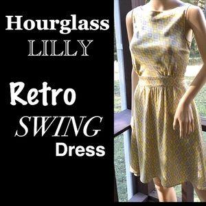 ▪️HOURGLASS LILLY▪️Retro Sateen Pocket Swing Dress